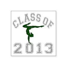 """Class Of 2013 Gymnastics Square Sticker 3"""" x 3"""""""