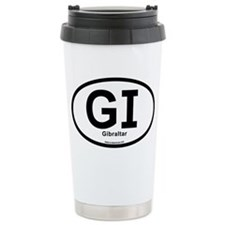GI - Gibraltar oval Ceramic Travel Mug