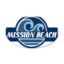 Mission Beach Surfer Pride Oval Car Magnet