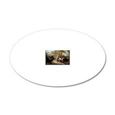 John Quidor Headless Horsema 20x12 Oval Wall Decal