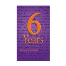 6 Year Recovery Birthday - Yo Rectangle Car Magnet