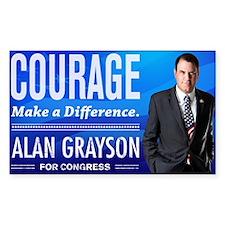 Courage: Alan Grayson Decal