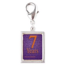7 Year Recovery Birthday - Y Silver Portrait Charm