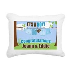 Its a Boy Congratulation Rectangular Canvas Pillow