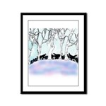 Siberian Puppies out walking Framed Panel Print