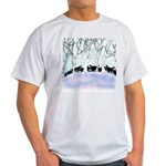 Siberian Puppies out walking Light T-Shirt