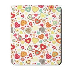 Colorful hearts pattern Mousepad