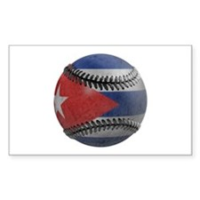 Cuban Baseball Rectangle Bumper Stickers