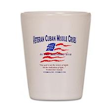 Veteran Cuban Missle Crises Graphic Shot Glass