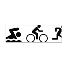 triathlon1A Car Magnet 10 x 3