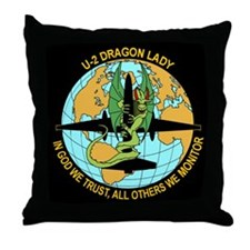 Dragon Lady Throw Pillow