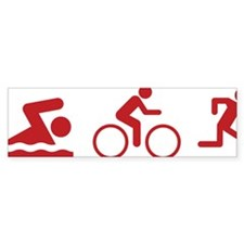 triathlon1D Bumper Sticker