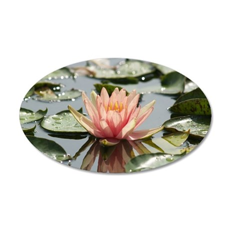 Lilly Pond 35x21 Oval Wall Decal