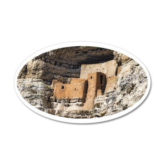 montezuma castle 35x21 Oval Wall Decal