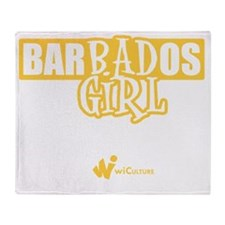 Barbados Bad Girl Throw Blanket
