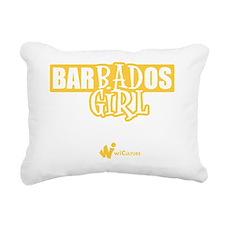 Barbados Bad Girl Rectangular Canvas Pillow