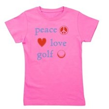 Peace Love Golf Girl's Tee