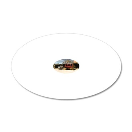 wild west stagecoach 20x12 Oval Wall Decal