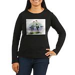 Lemon Blue Moderns Women's Long Sleeve Dark T-Shir