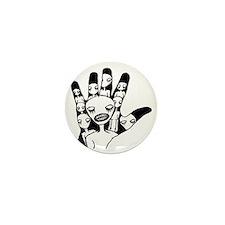 hand in hand Mini Button