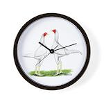 White Modern Games Wall Clock