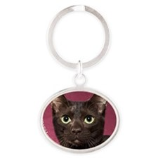 Havana Brown Cat Ornament Oval Keychain