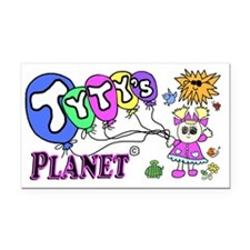 Tytys Planet Business Card Rectangle Car Magnet