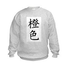 Orange-Color Kanji Sweatshirt