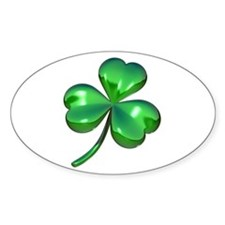 3D Shamrock Oval Decal