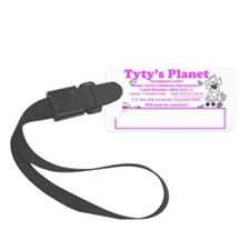 Tytys Planet business card back Luggage Tag