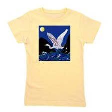 White Crane Spreads Its Wings Girl's Tee
