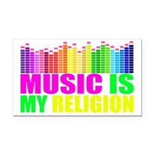 Music is My Religion Shirt Rectangle Car Magnet