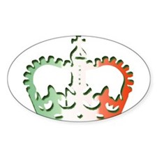 Italian Crown Oval Decal