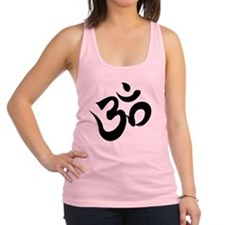 Om Black Racerback Tank Top