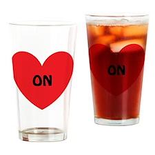 Heart On Drinking Glass