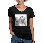 Muff Gamecock Women's V-Neck Dark T-Shirt