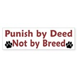 Punish by Deed Car Sticker