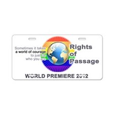 Rights of Passage Logo Aluminum License Plate