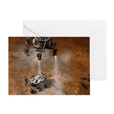 Curiosity Touchdown Greeting Card