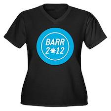 Barr 2012 We Women's Plus Size Dark V-Neck T-Shirt