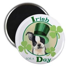 St. Patrick Boston Terrier Magnet