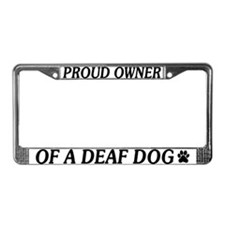 Proud Deaf Dog Owner License Plate Frame