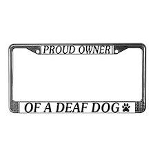 Proud Deaf Dog Owner License Plate Frame