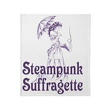 Steampunk Suffragette Throw Blanket