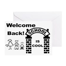 school is cool sign Greeting Card