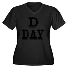 D Day Women's Plus Size Dark V-Neck T-Shirt