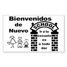 Back to Cool School SPANISH Decal