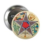 Celtic Pentagram Button