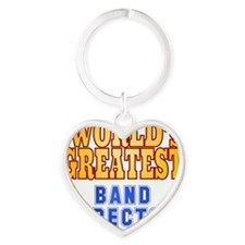 World's Greatest Band Director Heart Keychain