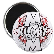 Rugby Mom (cross) Magnet